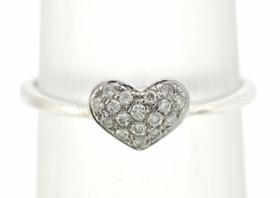 14K White Gold Diamond Heart Ring 11003862