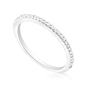 14K White Gold 0.28ctw Diamond Band 11003754