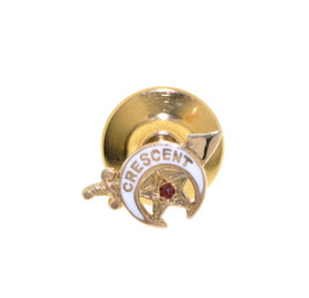 10K Yellow Gold Ruby Masonic Tie Pin 52001576