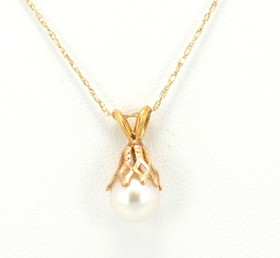 14K Yellow Gold Pearl Charm 52000189