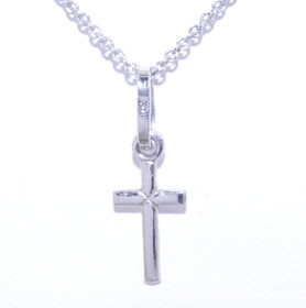 14K White Gold Small Cross Charm 50000957