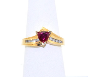 14K Yellow Gold 0.59ctw Ruby and Diamond Ring 12002124
