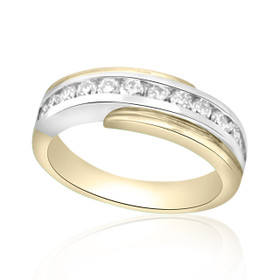14K Two Tone Gold 0.56ctw Diamond Wedding Band 11001080