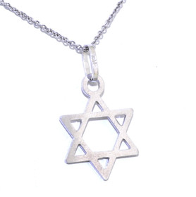 14K White Gold Jewish Star 50002610