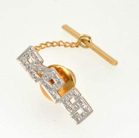 "14k Yellow Gold Initial ""RPS"" Diamond Tie Tack 70000079"
