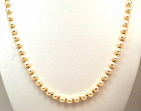 14K Yellow Gold Pearl Necklace 32000333