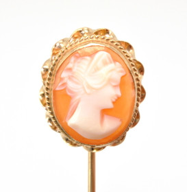 14K Yellow Gold Cameo Pin 52001505