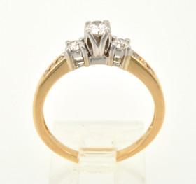 14K Yellow Gold 0.50ctw Round Diamond Engagement Ring