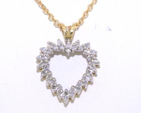 14K Yellow Gold Diamond Heart Charm 51001617