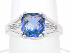 14K White Gold Mystic Topaz Ring 12002225