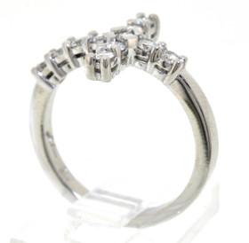 14K White Gold 0.55 CTW Diamond Cross Ring 11003768
