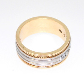 14K Two Tone Gold 0.46 CTW Diamond Wedding Band 11002179