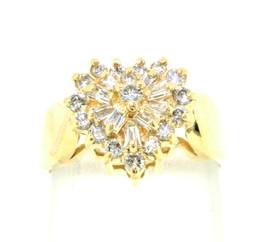 14K Yellow Gold Cocktail Diamond Ring