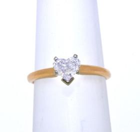 14K Yellow Gold Heart Shape .45CT Diamond Engagement Ring