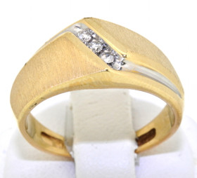 10K Yellow Gold 0.18 CTW Diamond Ring 19100026