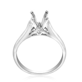 18K White Gold 0.04 ct Diamond Engagement Ring Setting