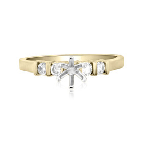 14K Yellow Gold 0.39 ct Diamond Engagement Ring Setting