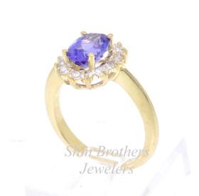 14K Yellow Gold Tanzanite /Diamond Ring 12002271