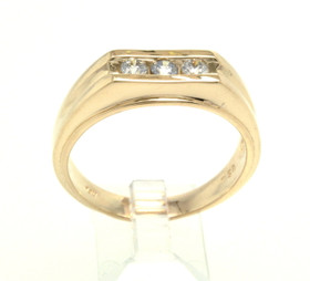 14K Yellow Gold 0.30ct. Men's Diamond Ring 11003965