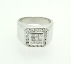 18K White Gold 1.29 CTW Diamond Ring 11003866