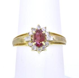 14K Yellow Gold Ruby/Diamond Ring 12001664