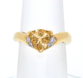 14K Yellow Gold 1.05 ctw Citrine/Diamond Ring 12001551