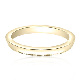 14K Yellow Gold Milgrain Wedding Band 10016068