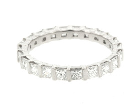 Platinum 2.01ctw Diamond Eternity Wedding Band 11004029