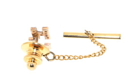 "14K Yellow Gold Diamond ""HJ"" Initial Tie Pin 40001913"