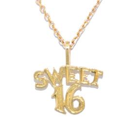14K Yellow Gold Sweet 16 Charm 50001708