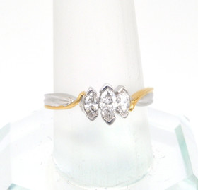 14K Two Tone Gold .50ct Diamond Engagement Ring
