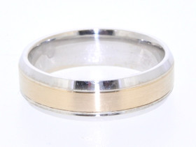 14K Two Tone Gold Wedding Band 10016131