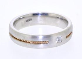 14K Two Tone Gold Diamond Band 11002108