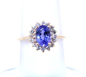 14K Yellow Gold 1.83 ctw Tanzanite/Diamond Ring 12002275