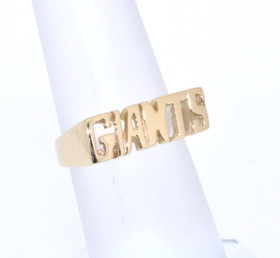 14k Yellow Gold Giants Name Ring 10016226