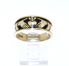 14K Yellow Gold Claddagh Ring 10000516