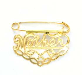 14K Yellow Gold Mother Pin 53000010