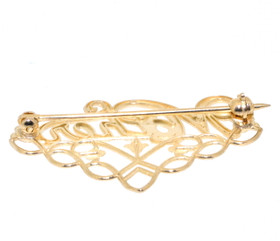 "14K Yellow Gold ""Mother"" Charm Pin 50001890"