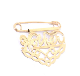 "14K Yellow Gold ""Mother"" Charm Pin 50000473"
