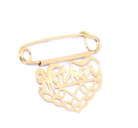 "14K Yellow Gold ""Mother"" Charm Pin 50000161"