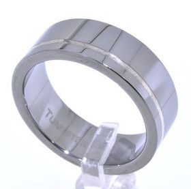 Tungsten Yellow Lined Ring 15010071