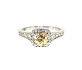 18K White Gold Diamond Engagement Ring by Shin Brothers Jewelers Inc. 11003996