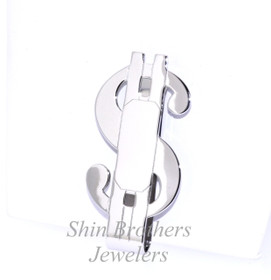 Rhodium Plated Money Sign Money Clip 89910064