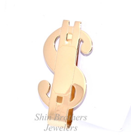 14K Yellow Gold Plated Money Sign Money Clip 89910065