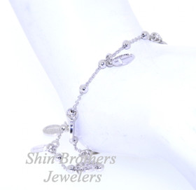 Sterling Silver Cross and Medal Bracelet 82010391