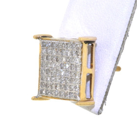 14K Yellow Gold Princess 0.32ctw Diamond Square Single Earring Stud 41060698