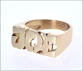 "14K Yellow Gold ""Joe"" Namering with Asian Style"