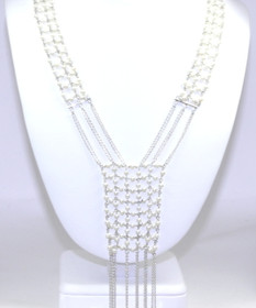 "18k White Gold 17"" Pearl Necklace 32000389"