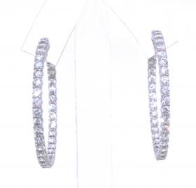 Sterling Silver CZ Hoop Earrings 84010327