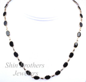"14K Yellow Gold 16"" Onyx Chain Necklace 32000131"